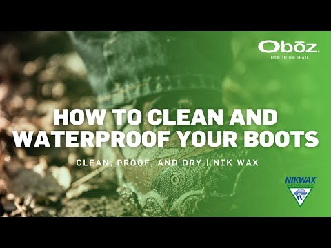 How to clean and waterproof your boots
