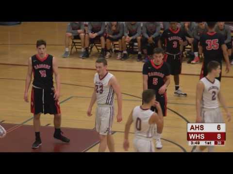 Arlington High School Boys Varsity Basketball vs Watertown - Dec. 16, 2016