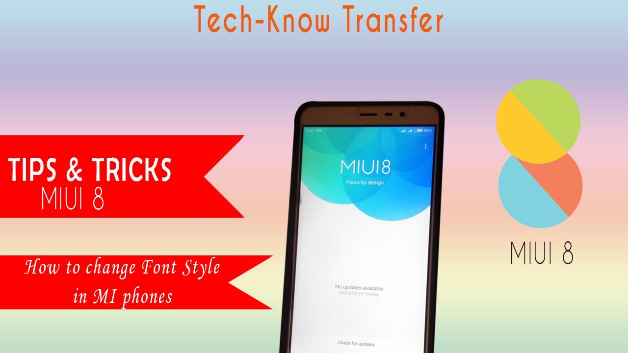 MIUI 8 Tips and Tricks How to change Font style in MI phones