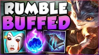 YOU WON'T BELIEVE HOW STRONG RUMBLE IS WITH THESE NEW AP ITEMS! NEW RUMBLE TOP! - League of Legends