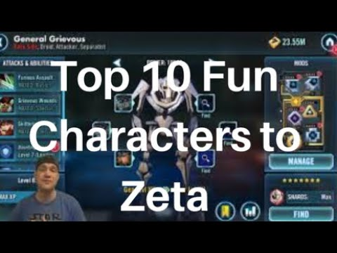 Top 10 Fun Characters to Zeta that will Help you out! Star Wars Galaxy of Heroes | SWGoH