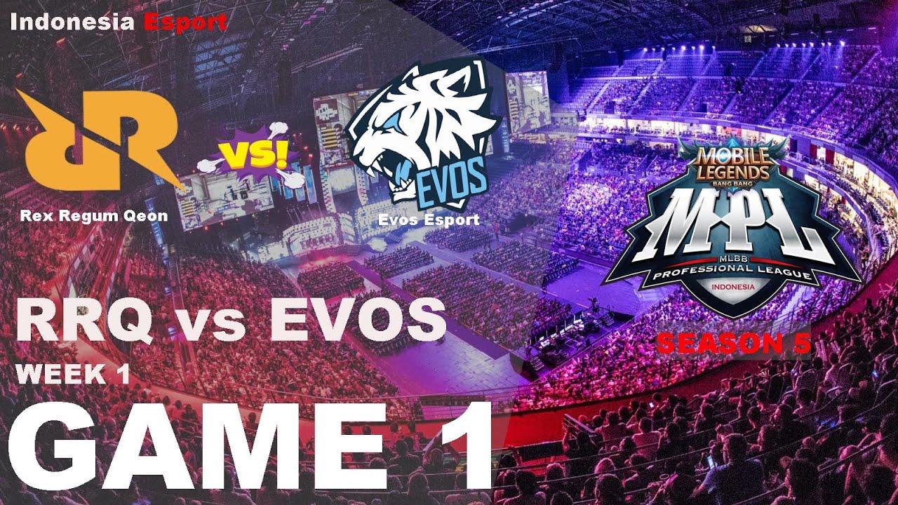 RRQ vs EVOS ESPORT - MPL ID Season 5 Game 1 - YouTube