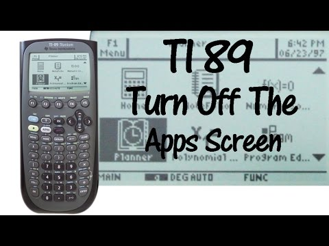 TI 89 Turn Off the Default Apps Screen