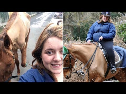 Cruel Woman Posts Selfie With A Skeletal Horse Then Gets Banned From Keeping Horses