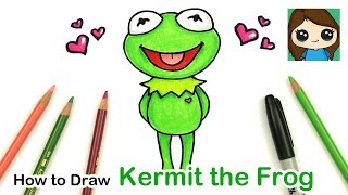 How to Draw a Cute Frog Easy | Kermit from Muppet Show