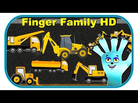 Heavy Equipment Finger Family | Nursery Rhymes | Kids Construction Finger Family|Family Sing Along