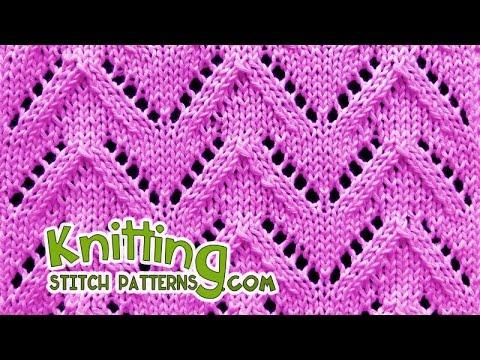 Chevron | Lace Knitting #29 - YouTube