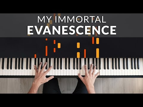 Evanescence - My Immortal   Tutorial Of My Piano Cover