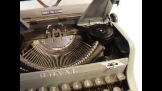 Royal Quiet De Luxe Typewriter Typing