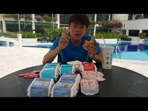 Hansol vs 10 Burger McDonald's siapa yang menang! 먹방 meukbang