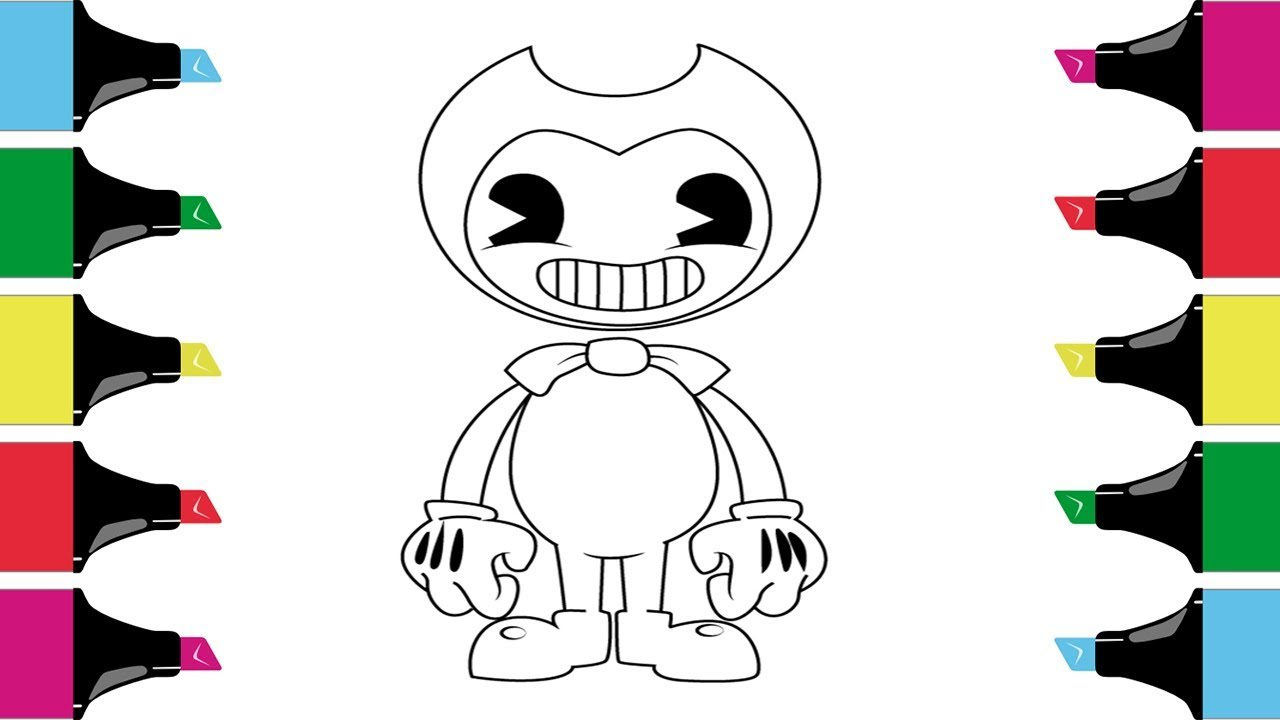 Bendy And Boris The Quest For The Ink Machine Coloring Pages Kids