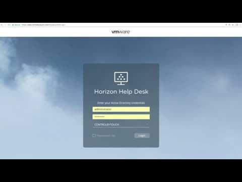 VMware Horizon 7.2 Help Desk Tool