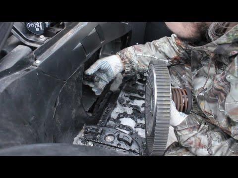 Замена ремня вариатора на квадроцикле Cf moto 500-2a. Часть 1.