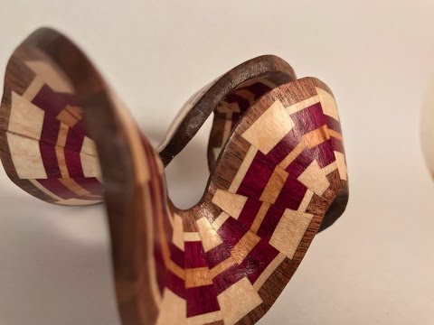 Woodturning a Segmented Christmas Ornament #3
