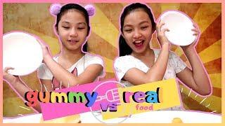 GUMMY FOOD VS REAL FOOD CHALLENGE   Walang Di Masarap Sa Taong Gutom!!   Aurea & Alexa