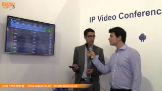 VoIPon Get a Closer Look at the Grandstream GVC3200 Video Conferencing System @ CeBit 2015