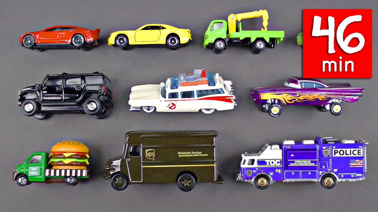 Learning Street Vehicles For Kids 46 Mins Cars And