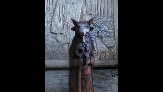Скульптура идол Велеса своими руками.Урок резьбы по дереву.Carving statuette of ancient God