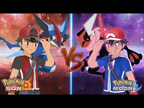 Pokemon Sun and Moon Champion Ash Vs Dark Ash (Battle Bond Vs Battle Hatred)