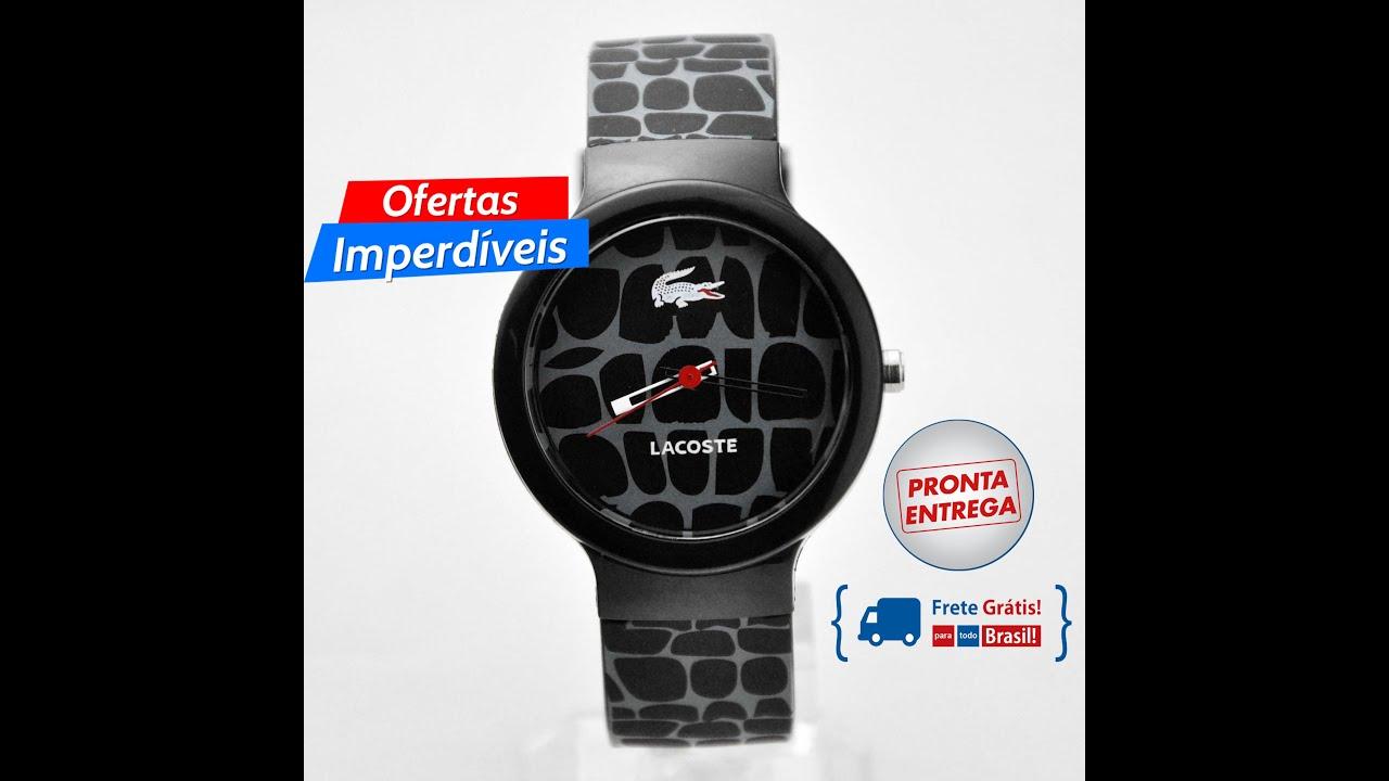 8d487c6ec40 Vendo Relógio Lacoste Silicone quartz unisex preto moda