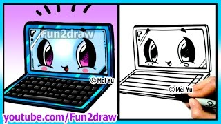 Learn to Draw Back To School Laptop - Art Lessons for Beginners Step by Step Fun2draw