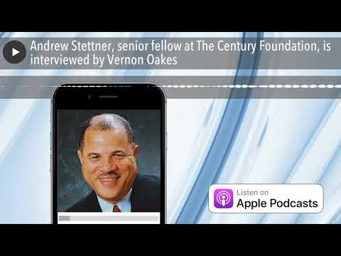 Andrew Stettner, senior fellow at The Century Foundation, is interviewed by Vernon Oakes