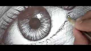 Speed drawing of eye with ballpoint | Edgar Cuazitl