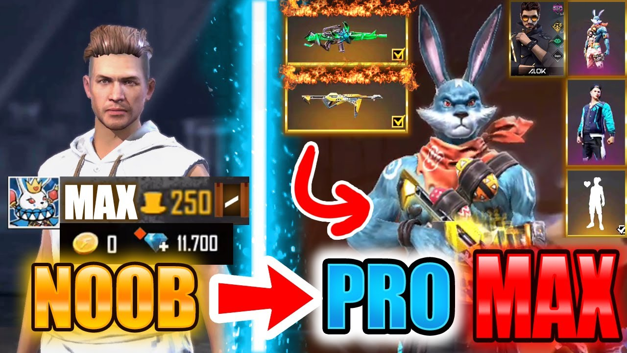 Free Fire new account to *PRO* MAX - look how it became😱🔥