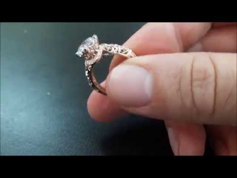 Cushion Cut Diamond Engagement Ring in Rose Gold
