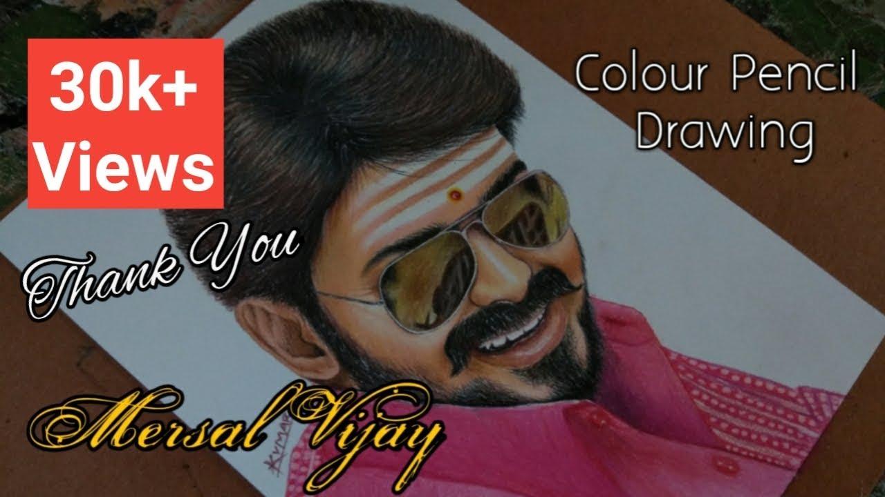 Mersal vijay drawing - YouTube