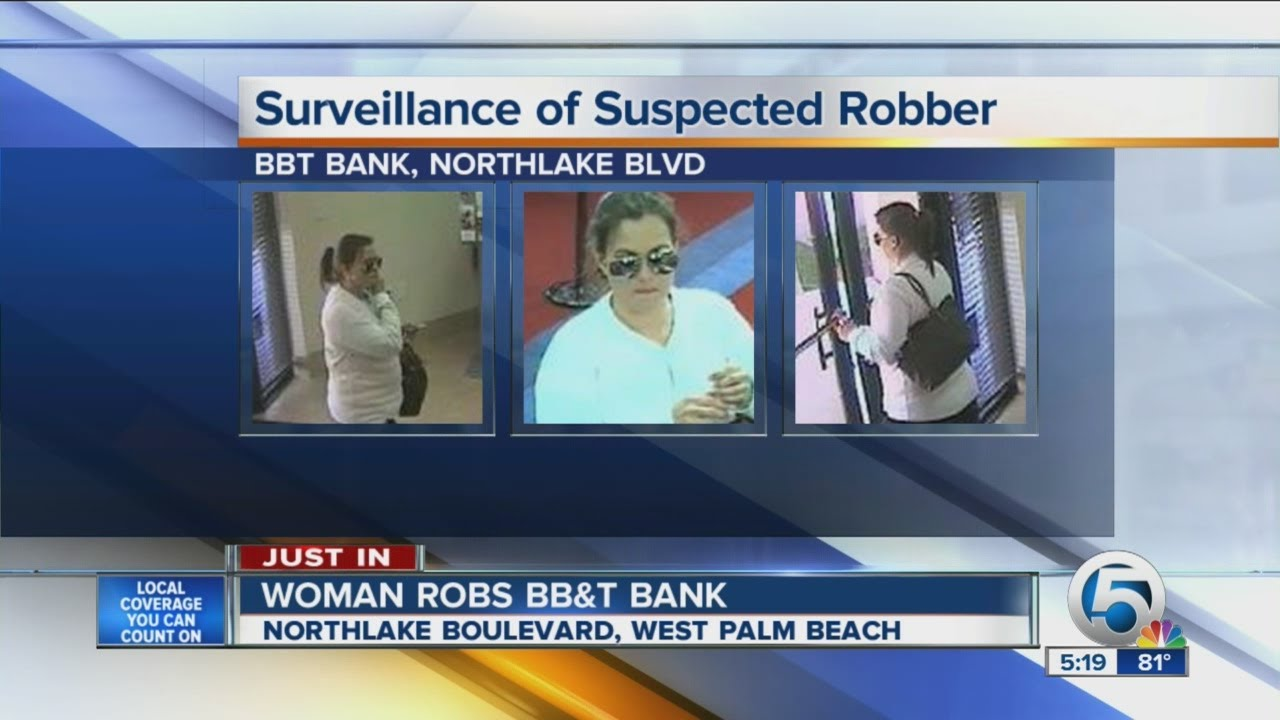 Woman Robs Bb T Bank Youtube