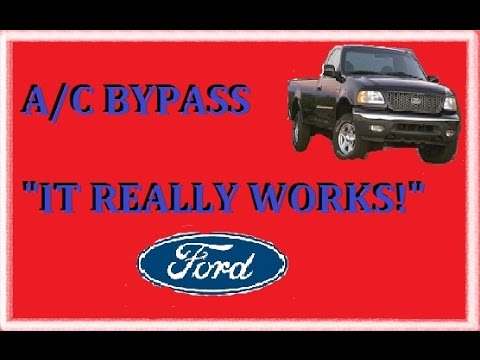 F-150 AC compressor bypass shorter belt no parts required - YouTube
