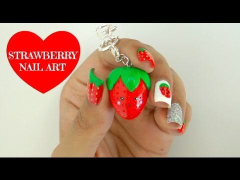 Easy Diy Strawberry Nail Art Youtube