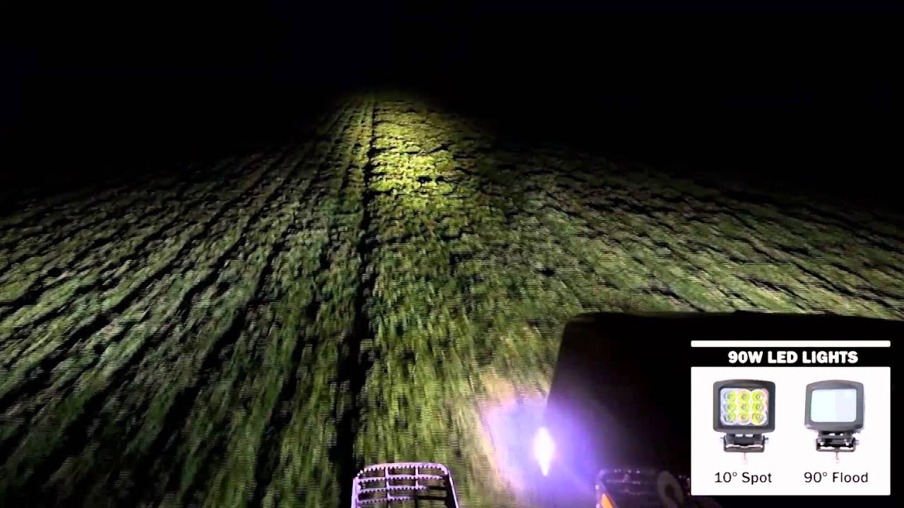 Case Ih D25 Headlight Bulb : Aci off road led lights w spot flood beam pattern