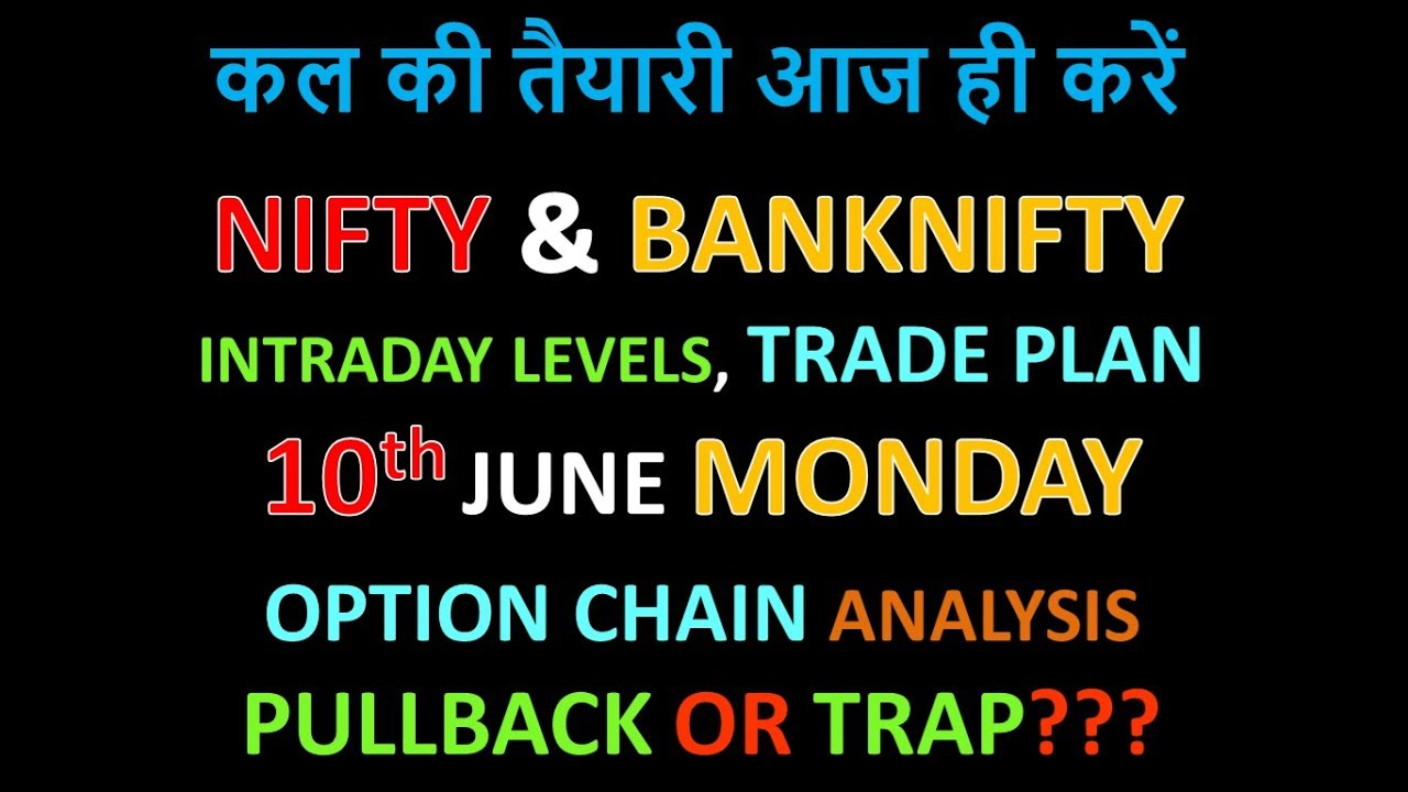 Bank Nifty & Nifty tomorrow 10th June 2019 daily chart Analysis SIMPLE  ANALYSIS POWERFUL RESULTS