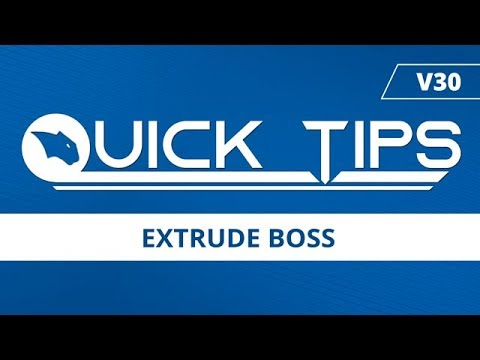 Extrude Boss | BobCAD-CAM Quick Tips