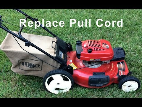Replace A Lawn Mower Pull Cord Super Easy