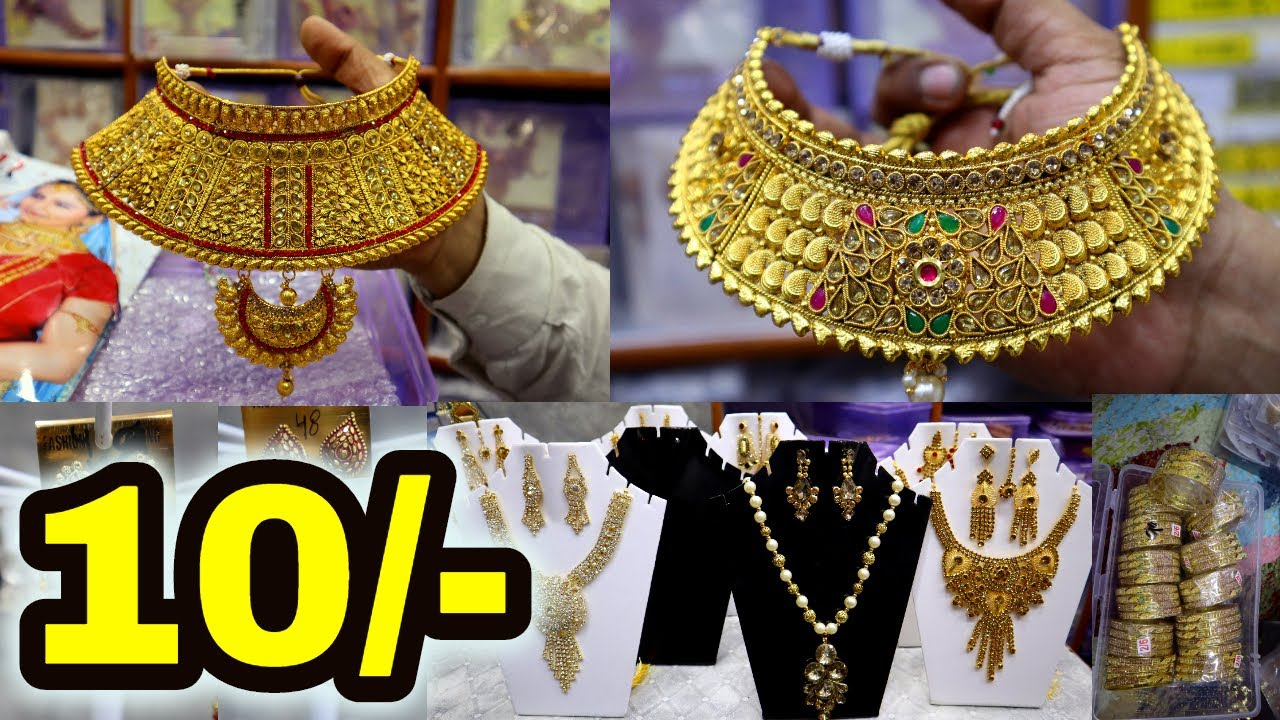 Cheapest jewellery market   Chokar set,bridal set,Earring ,Necklace   Wholesale jewellery  delhi