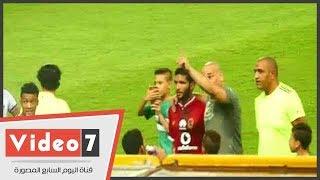 صالح جمعة يرفض محاولة ابراهيم حسن للصلح مع جماهير المصري عقب انتهاء المباراة