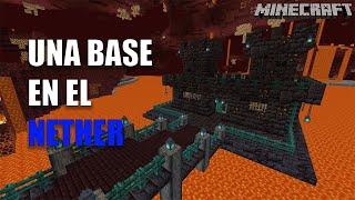 Minecraft: Cómo hacer una base en el NETHER para survival | TUTORIAL