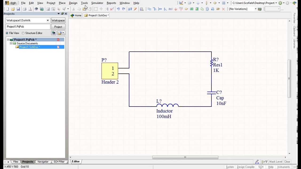 Altium Designer Tutorial 1 for beginners: Schematic capture and PCB layout  - Part1