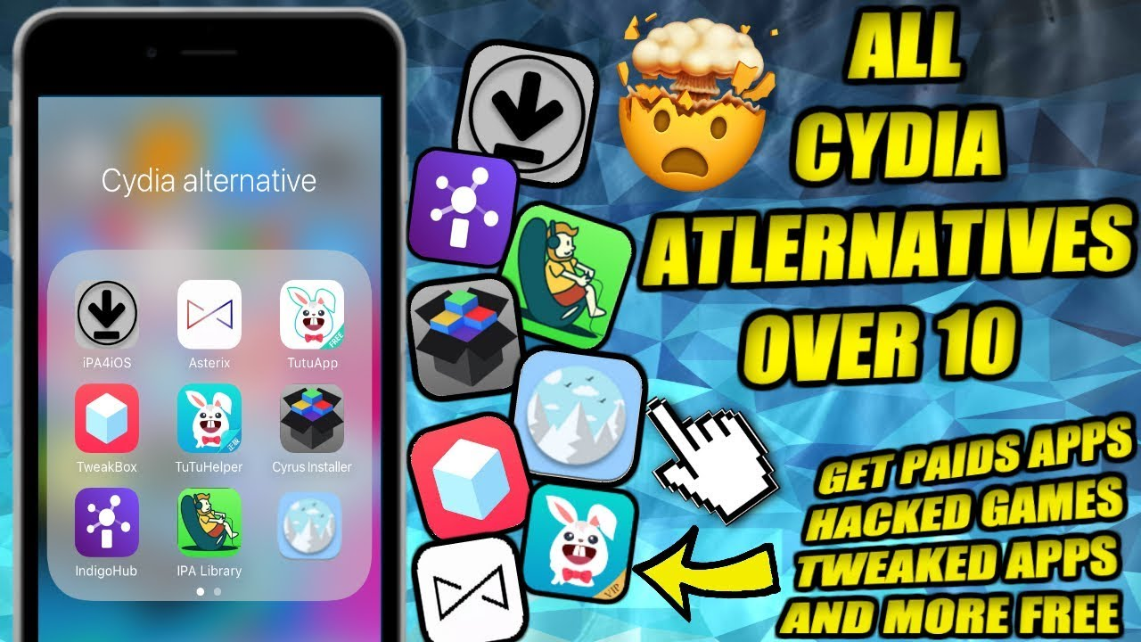 EVERY CYDIA ALTERNATIVE OVER 10 WORKING 2017!!! GET FREE PAID APPS,HACKED  GAMES, TWEAKED APPS AND MO