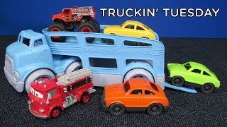 Truckin' Tuesday! Green Toys Car Carrier made from recycled plastic!