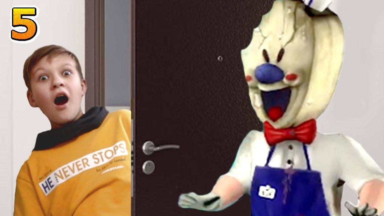 Мороженщик ЗА ДВЕРЬЮ!  5 серия Ice Scream в реальной жизни