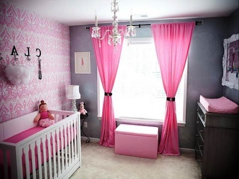 Baby Girl Nursery Ideas Pink And Grey YouTube - Pink and grey nursery decor