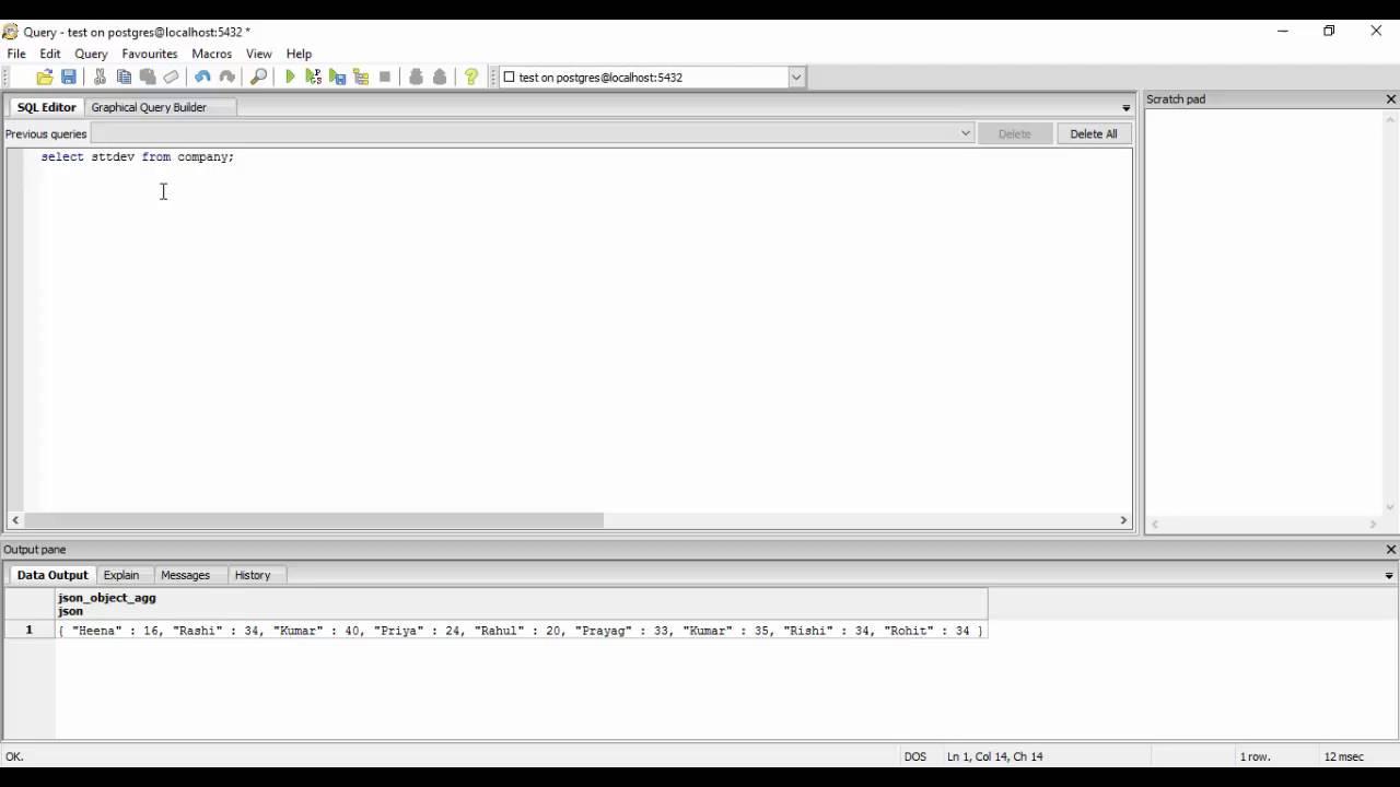 Tutorial 30- Aggregate Functions in PostgreSQL(Advanced)