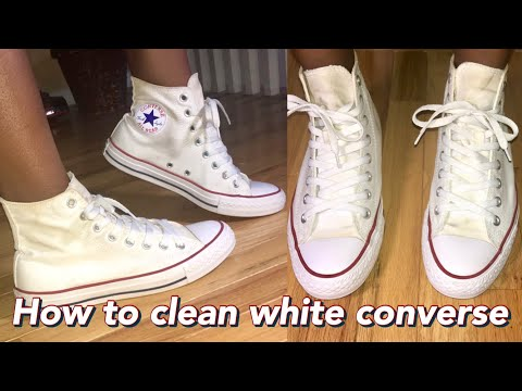 VLOGMAS DAY 2: HOW TO CLEAN WHITE CONVERSE