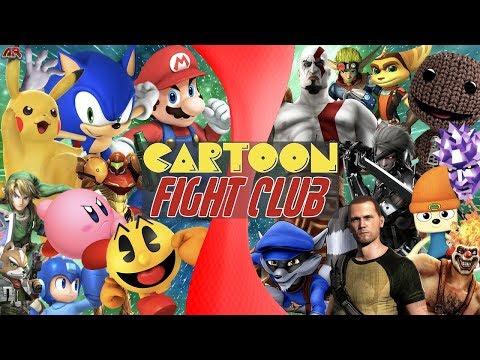 Super Smash Bros VS PlayStation AllStars (Nintendo VS Sony)   CARTOON FIGHT CLUB