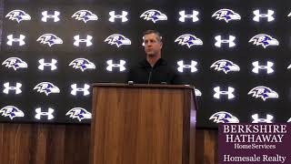 Ravens coach John Harbaugh talks Marcus Peters, other roster moves