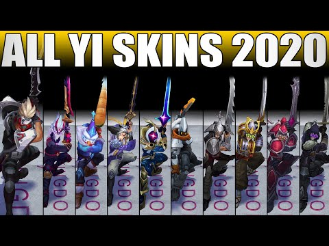 All Master Yi Skins Spotlight 2020 - Including Psy Ops Master Yi